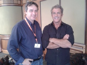 Nick Holdsworth and Mel Gibson in Karlovy Vary July 5 2014